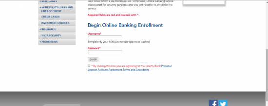 Enroll for Online Banking - Liberty Bank