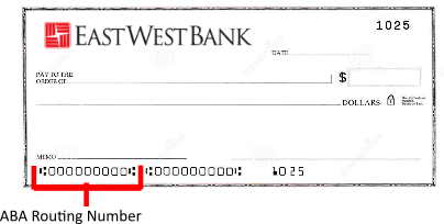 East West Bank Routing Number – Where to Locate on Check