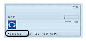Central Bank Routing Number - Where to Locate On Check