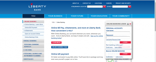 Online Banking Login - Liberty Bank